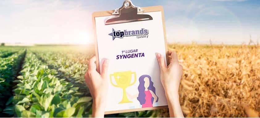 Syngenta conquista 1° lugar no Top Brands Quality 2020
