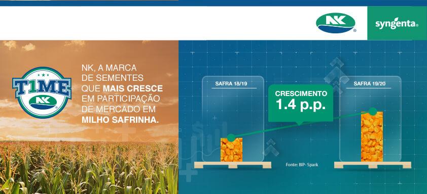 Sementes de milho NK: a marca que mais cresceu no Brasil no último ano