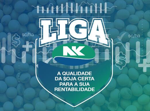 Banner das sementes de soja NK. Qualidade da soja certa para a rentabilidade.