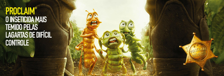 Proclaim. O inseticida mais temido pelas lagartas de difícil controle.