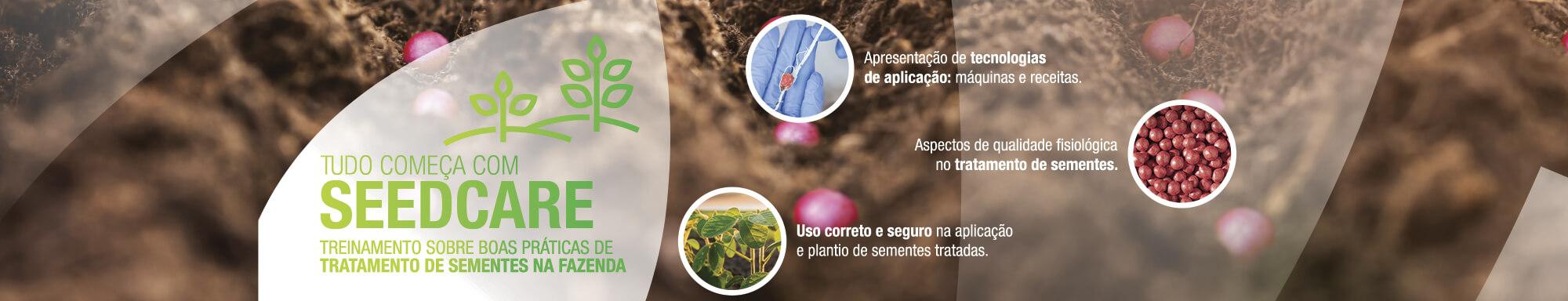 Tudo começa com Seedcare. Treinamento sobre boas práticas de tratamento de sementes na fazenda.
