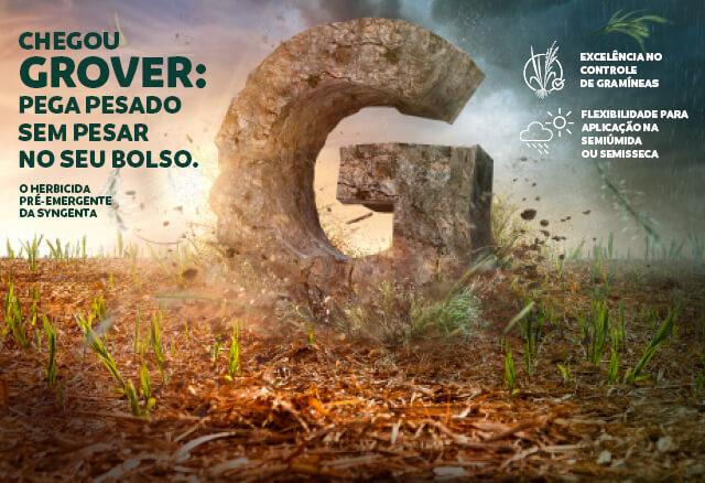 Grover é herbicida pré-emergente para cana-de-açúcar