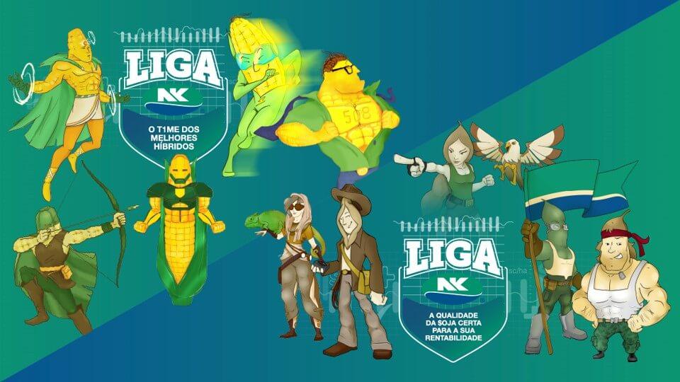 Imagem de campanha Liga NK