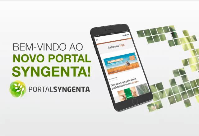 Bem vindo ao novo Portal Syngenta