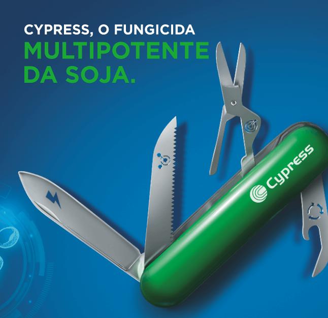 Cypress, o fungicida multipotente da soja.