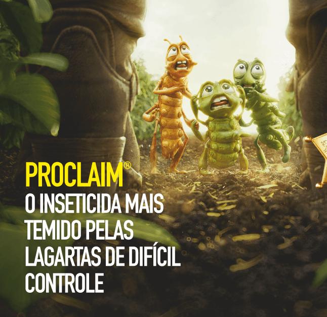 Proclaim: o inseticida mais temido pelas lagartas de difícil controle.